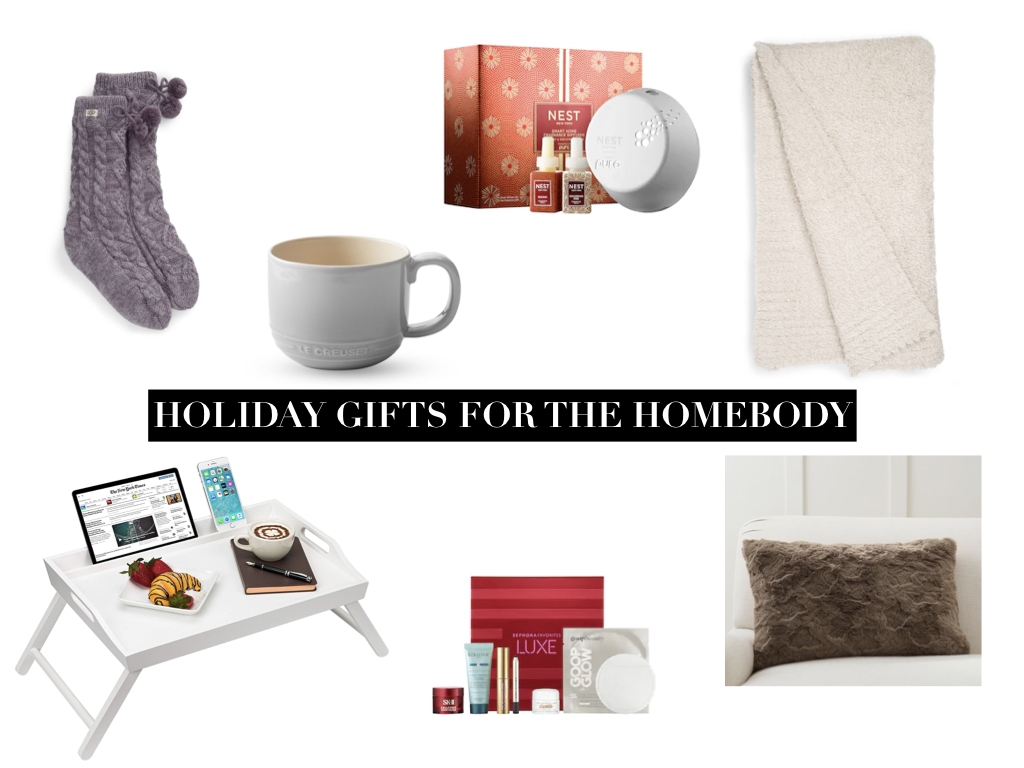 Meagan Brandon fashion blogger of Meagan's Moda shares holiday gift ideas for the homebody under $100