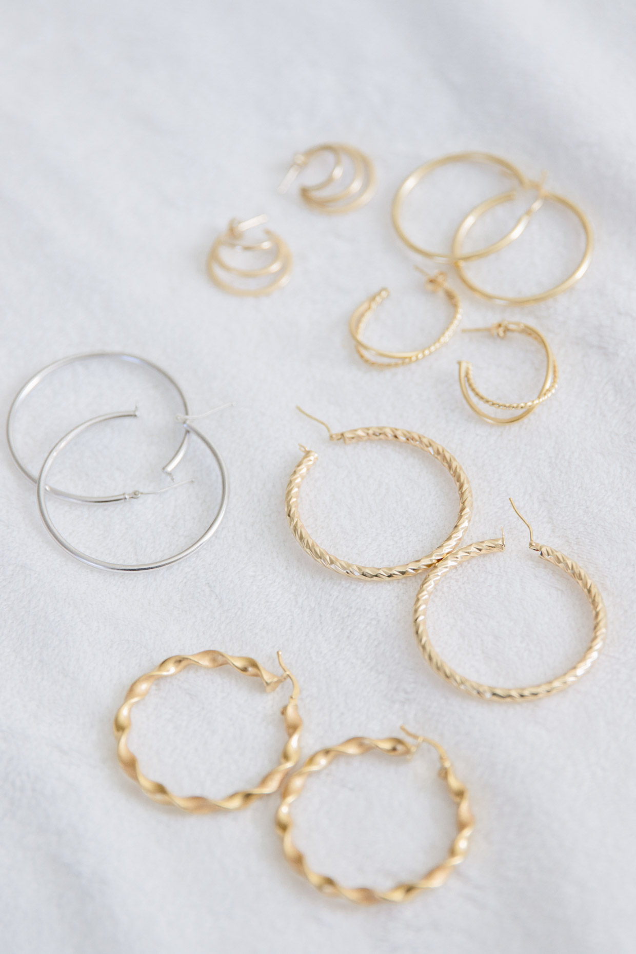 Meagan Brandon fashion blogger of Meagan's Moda shares classic gold hoop earrings and where to shop for them