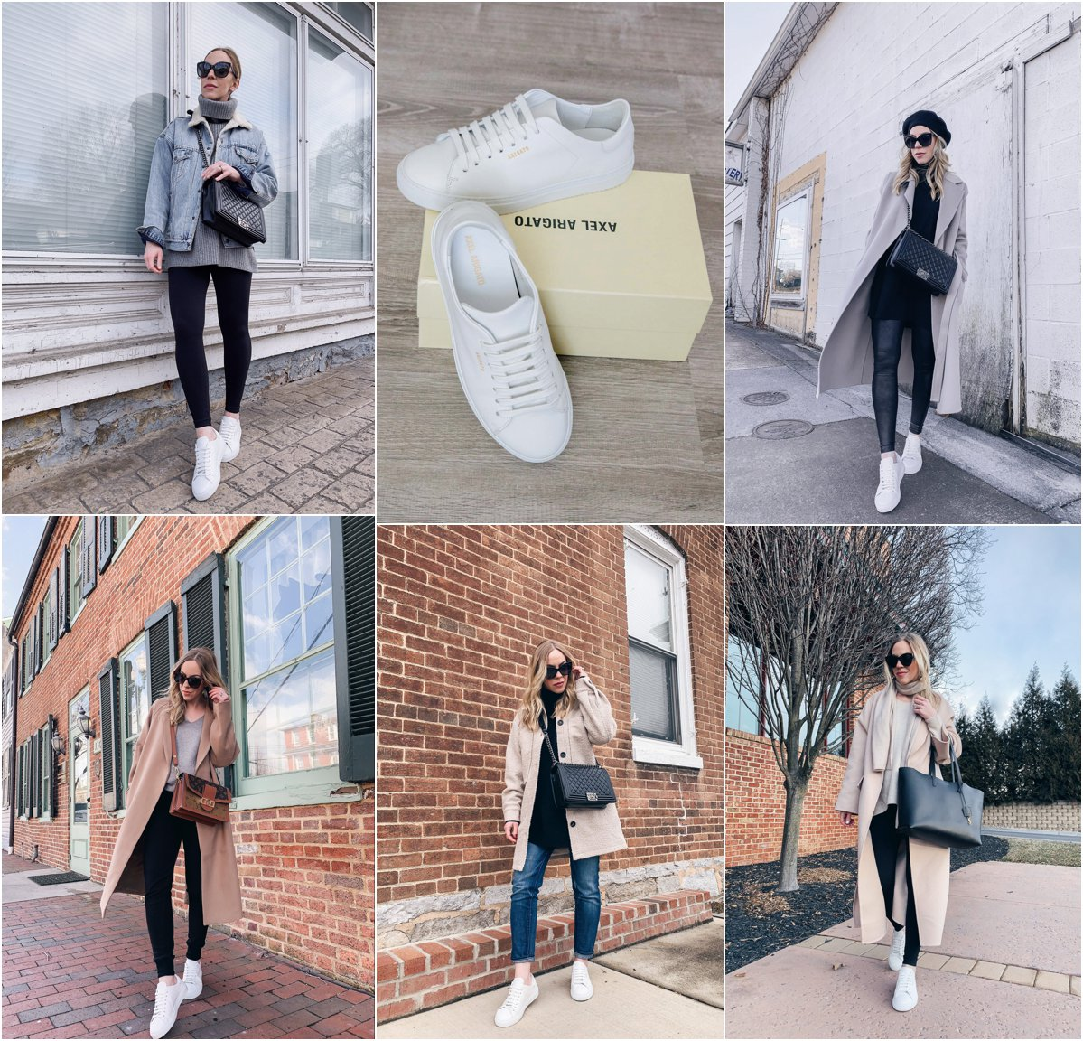 Meagan Brandon fashion blogger of Meagan's Moda reviews Axel Arigato clean 90 white sneakers, best classic white sneakers for women