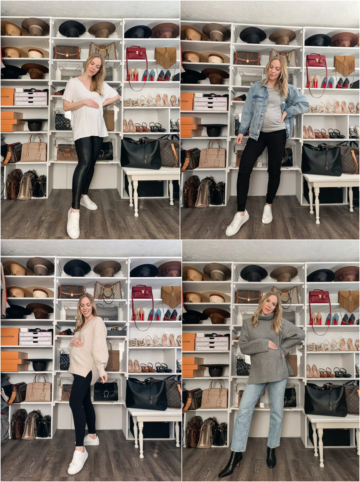 Meagan Brandon fashion blogger of Meagan's Moda shares four pairs of maternity pants worth the splurge, investment