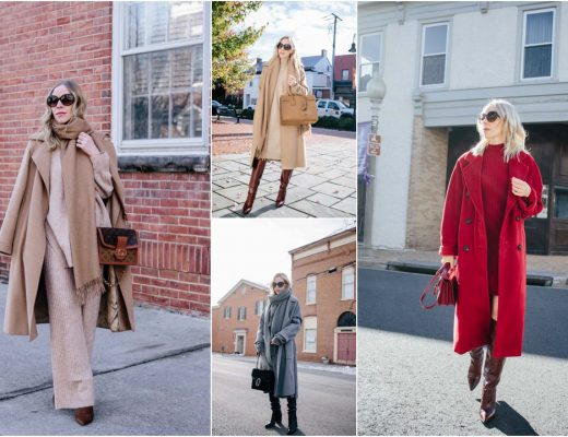 Meagan Brandon fashion blogger of Meagan's Moda shares monochromatic outfits and how to put them together monochrome winter outfits