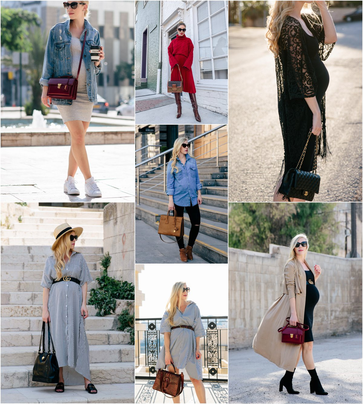 Meagan Brandon fashion blogger of Meagan's Moda shares non-maternity clothing that works for a growing baby bump, pregnancy style hacks