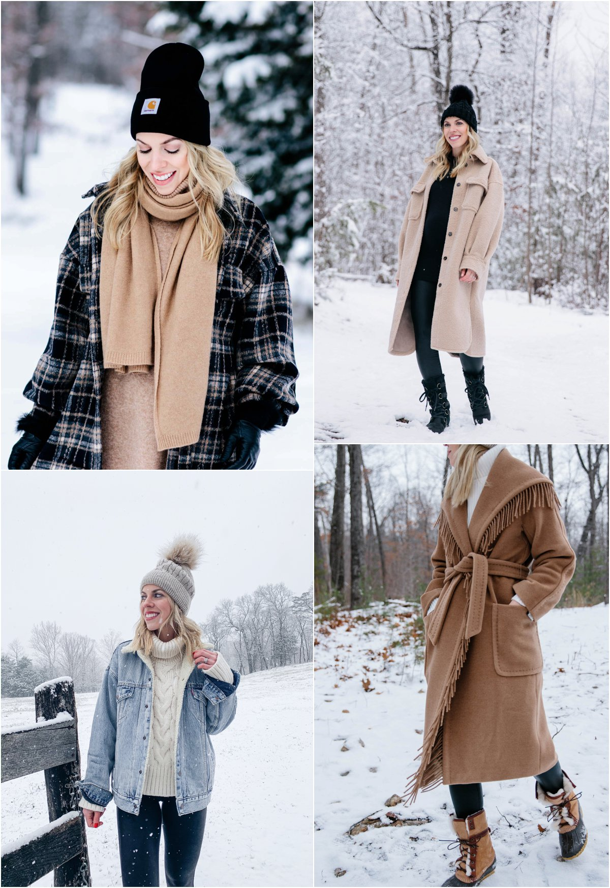 Meagan Brandon fashion blogger of Meagan's Moda shares ways to look stylish in the snow, chic snow day outfits