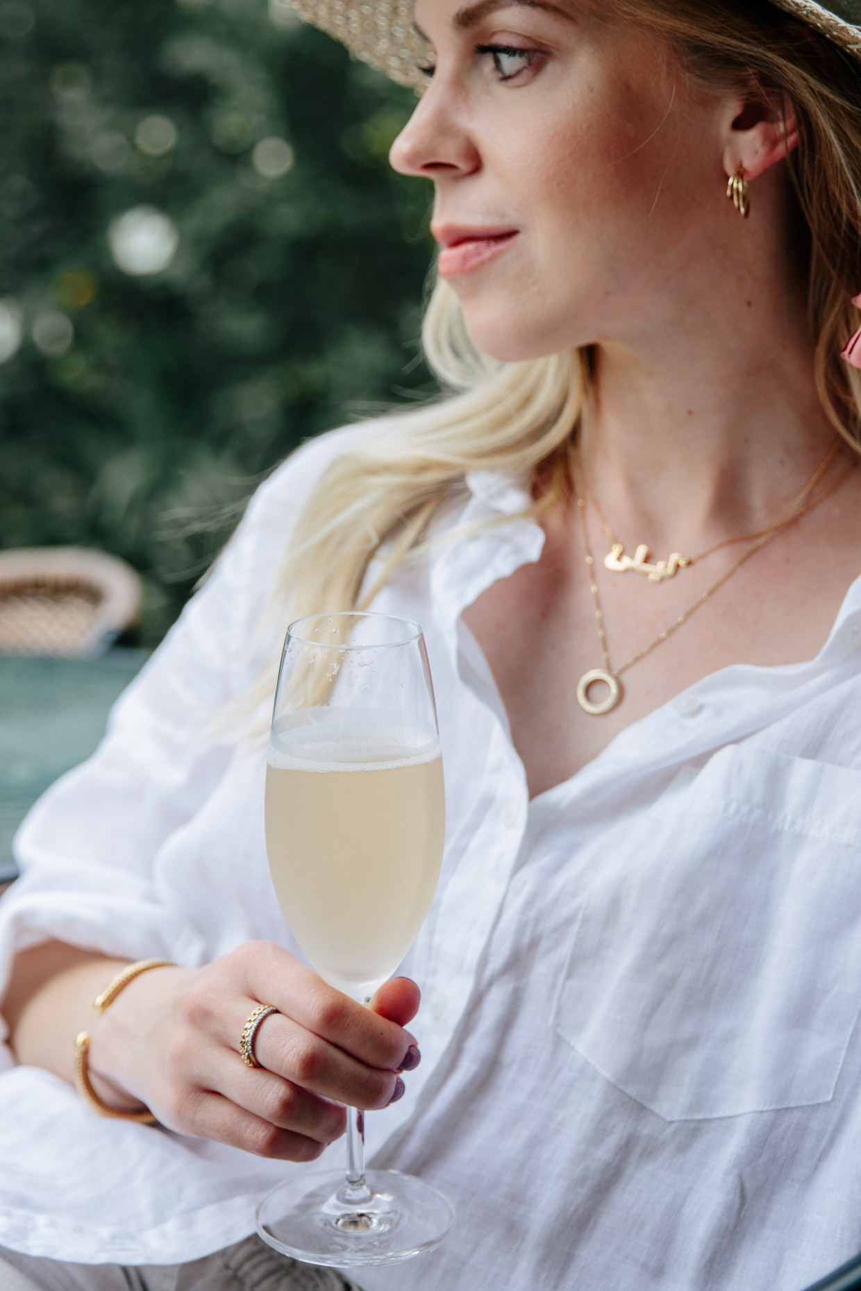 Meagan Brandon of Meagan's Moda showcases sentimental jewelry and how to layer gold necklaces